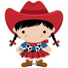 Cowboy e Cowgirl - Minus Cowboy Love, Cowboy Theme, Cowboy And Cowgirl, Cowboy Birthday Party, Farm Animal Birthday, Girl Cartoon Characters, Cartoon Kids, Cow Girl, Horse Clip Art
