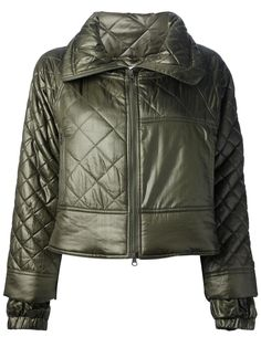 Love the Adidas by Stella McCartney quilted jacket on Wantering | Coat Tales | womens green quilted jacket | womenswear | womens fashion | womens style | wantering http://www.wantering.com/womens-clothing-item/quilted-jacket/adBOF/