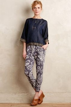 Printed Fronds Joggers - anthropologie.com #anthrofave