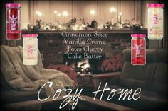 cozy home recipe   Place your order here! Order at www.pinkzebrahome.com/twylapenn - Make your own - Mix your scent - Fragrance Diffusers Soaps Lotion Simmer Pots Recipe Home Decor EZPZ Heat don't eat