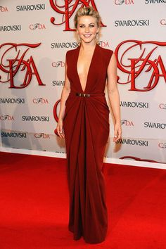 2012 CFDA Awards Red Carpet  Julianne Hough wearing Kaufman Franco.
