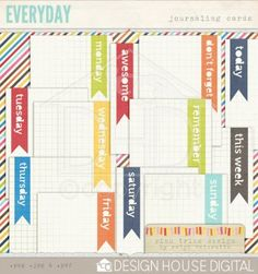 Printable Journaling Cards - Design House Digital
