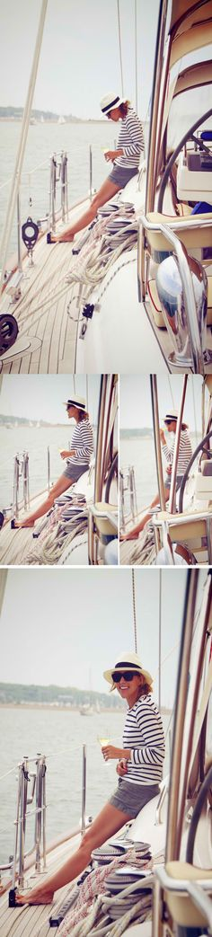 J.Crew + Theory...I want a yacht to live in : ). Travel where I need to.