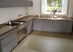 made to measure stainless steel worktops showing welded and regrained corner from per linear metre
