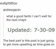 The best part is this post is just going to get more upsetting as time goes on