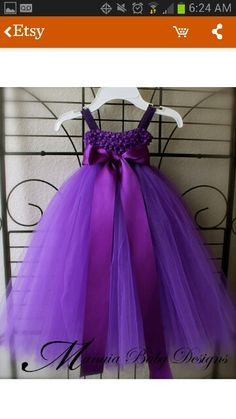 Flower girl tutu dress (with blue and white as colors) and matching headbands)