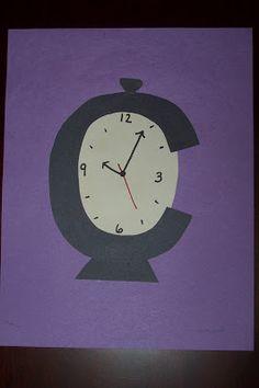 Letter Crafts - C for clock