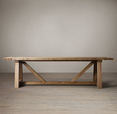 RHu0027s Salvaged Wood Beam Rectangular Extension Table:Our Salvaged Beam Wood  Tables Are Handcrafted Of Unfinished, Solid Salvaged Pine Timbers From ...