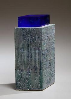 <i>Blue Green Mist</i> 2009 Glazed porcelain and glass 11 1/4 x 7 1/2x 4 1/2 in. Inv# 8440 SOLD Image