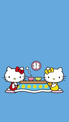 Hello Kitty and Mimmy Hello Kitty Backgrounds, Hello Kitty Wallpaper, Kawaii Wallpaper, Disney Wallpaper, Hello Kitty Images, Character Creator, Sanrio Characters, Sanrio Hello Kitty, Little Twin Stars