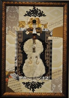 "Fay Sciarra's ""Bride"" Violin Collage"