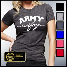Army Wifey Shirt Wifey T-shirt Husband and Wife by GreatLifeTees