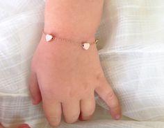Infant Bracelet Rose Gold Bracelet Baptism Gift baby by MinimalVS, $29.00