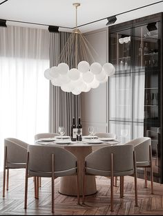 🌶 Nastia Perchyk on Behance Home Room Design, Dining Room Design, House Design, Dining Rooms, Dining Tables, Kitchen Design, Modern Classic Interior, Classic Living Room, Interior Design Inspiration