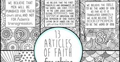 I've been working on this fun project for a couple of months and I finally have all twelve Articles of Faith available in coloring pages!...