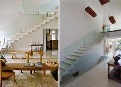 escadas de casa com guarda-corpo de vidro concreto armado arquitetura blog assim eu gosto