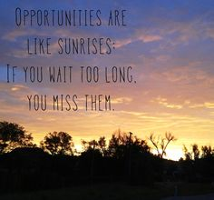 Opportunities lost