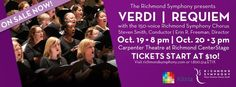 Richmond Symphony offers free tickets to furloughed federal workers-The Richmond Symphony is offering two free tickets to an upcoming performance of Verdi's Requiem to all furloughed federal employees. The performances are scheduled for Saturday, October 19 at 8 p.m. and Sunday, October 20 at 3p.m. Both performances will take place at the Carpenter Theatre at Richmond CenterStage