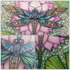 Johanna Basford Books, Johanna Basford Coloring Book, Magical Jungle Johanna Basford, Hand Painted Wine Glasses, Butterfly Art, Butterflies, Color Inspiration, Art Girl, Coloring Books