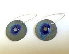 EnamelArt Sterling earrings by madhunt on Etsy https://www.etsy.com/listing/564974681/enamelart-sterling-earrings
