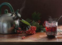 Чай из ягод калины хорошо укрепляет иммунитет