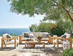 Larnaca Outdoor Teak Collection at #WilliamsSonoma #beachchic