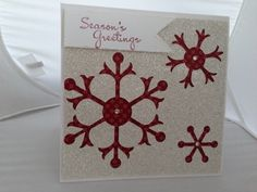 Snow Flurry Bigz Die from Stampin' Up using the negative for a christmas card.