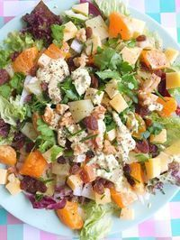 Chicory salad with mandarin, pineapple, curry and cheese - Delicious Dinner Recipes, Lunch Recipes, Salad Recipes, Vegetarian Recipes, Healthy Recipes, I Want Food, Quiche, Dairy Free Diet, Vegan Dinners