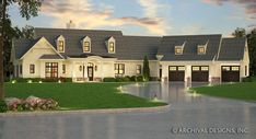 The Villa Visola is the prime example of what a Mediterranean house plan should be. This luxury house plan boast a unique design featuring the master on the main Craftsman Ranch, Craftsman Style House Plans, Ranch House Plans, Cottage House Plans, Cottage Homes, House Plans One Story, Story House, The Plan, How To Plan