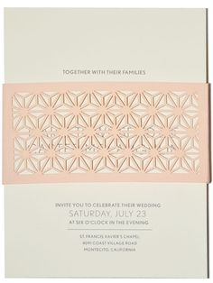 lovely invitations by Paper Orchid Stationery