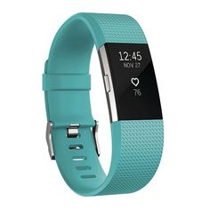 Fitbit Charge 2 Heart Rate Activity Tracker, Turquoise/Blue (Turq/Aqua)