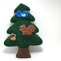 DIY Woodland Forest Tree - Felt Stuffed Hand Sewing Pattern