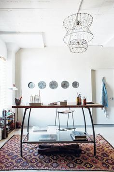 my scandinavian home: Fab new book: Maker Spaces by Emily Quinton Home Office, Office Workspace, Office Decor, Organized Office, Rustic Office, Estilo Interior, Book Maker, Scandinavian Home, Interiores Design