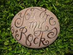 Handpainted pebble personalised gift with your own message handpainted by CoveCalligraphy, £15.00