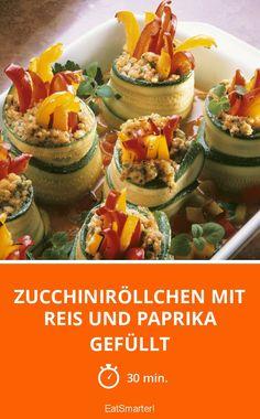Zucchiniröllchen mit Reis und Paprika gefüllt - smarter - Zeit: 30 Min. | eatsmarter.de