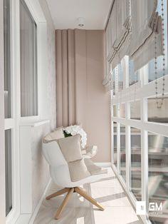 Балкон в нежных тонах