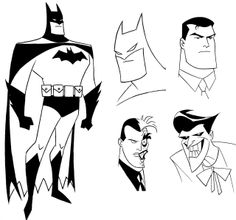Redesigns for The New Batman Adventures, by Bruce Timm