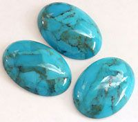 Turquoise - One of the favorite semiprecious gemstones across many cultures. Turquoise even comes in different colors such as green and yellow, or may have veins, flecks of pyrite or other distinctive features depending on where it was mined.