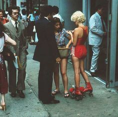 Hotpants and red. Hotter than hell.