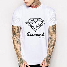 Diamond  #ootd #fashion #elitista #urbanista #freeshipping #whiteclassic Xl Shirt, Mens Tee Shirts, Diamond Supply Co, Cheap Shirts, Streetwear Fashion, Ootd Fashion, Urban Fashion, Men's Clothing, Clothing Accessories