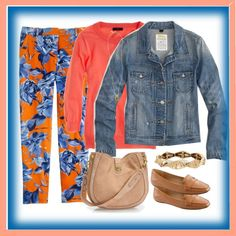 """""""Painters Floral and Denim"""" by mrsmcbrown ❤ liked on Polyvore"""