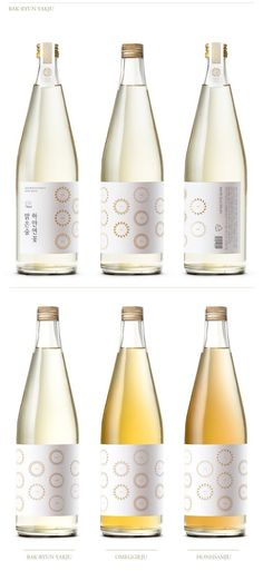 Korean Craft Liquor Brand & Bottle, Packaging Design by Plus X BX & Shinsaegae