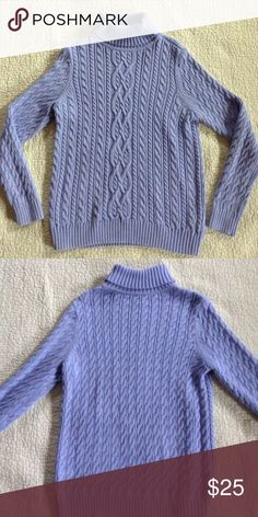💥5 DAY SALE💥Periwinkle TurtleNeck Stunning color! Excellent condition; only worn once! Sweaters Cowl & Turtlenecks