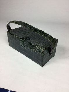 Beautiful Rare Vintage 1940s Green Crocodile Bag Unique