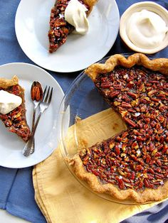 Maple Bourbon Pecan Pie {say goodbye to corn syrup, say hello to pure maple syrup, Bourbon whiskey, and flaky salt!} | The Bojon Gourmet