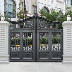 New house entrance furniture garage Ideas Front Gate Design, Steel Gate Design, House Gate Design, Main Gate Design, Door Gate Design, Fence Design, Garden Design, Front Gates, Entrance Gates