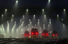 """""""Thomas almost shat himself when he woke up on a foggy winters morning to find the new trains had arrived."""" http://ibeebz.com"""