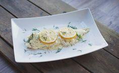 Kabeljauw uit de oven met citroensaus; een heerlijke maaltijd voor op een warme…