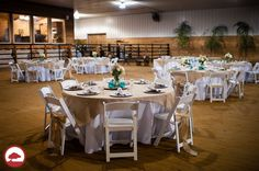 Western Country Chic Wedding Reception