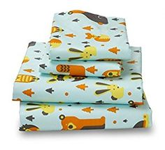 AmazonSmile: Queen Woodland Print Bed Sheet Set for Kids Bedding- Double Brushed Ultra Microfiber Luxury Bedding Set: Home & Kitchen
